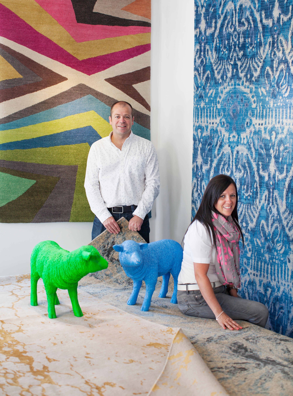 create a custom rug at the bazaar velvet showroom