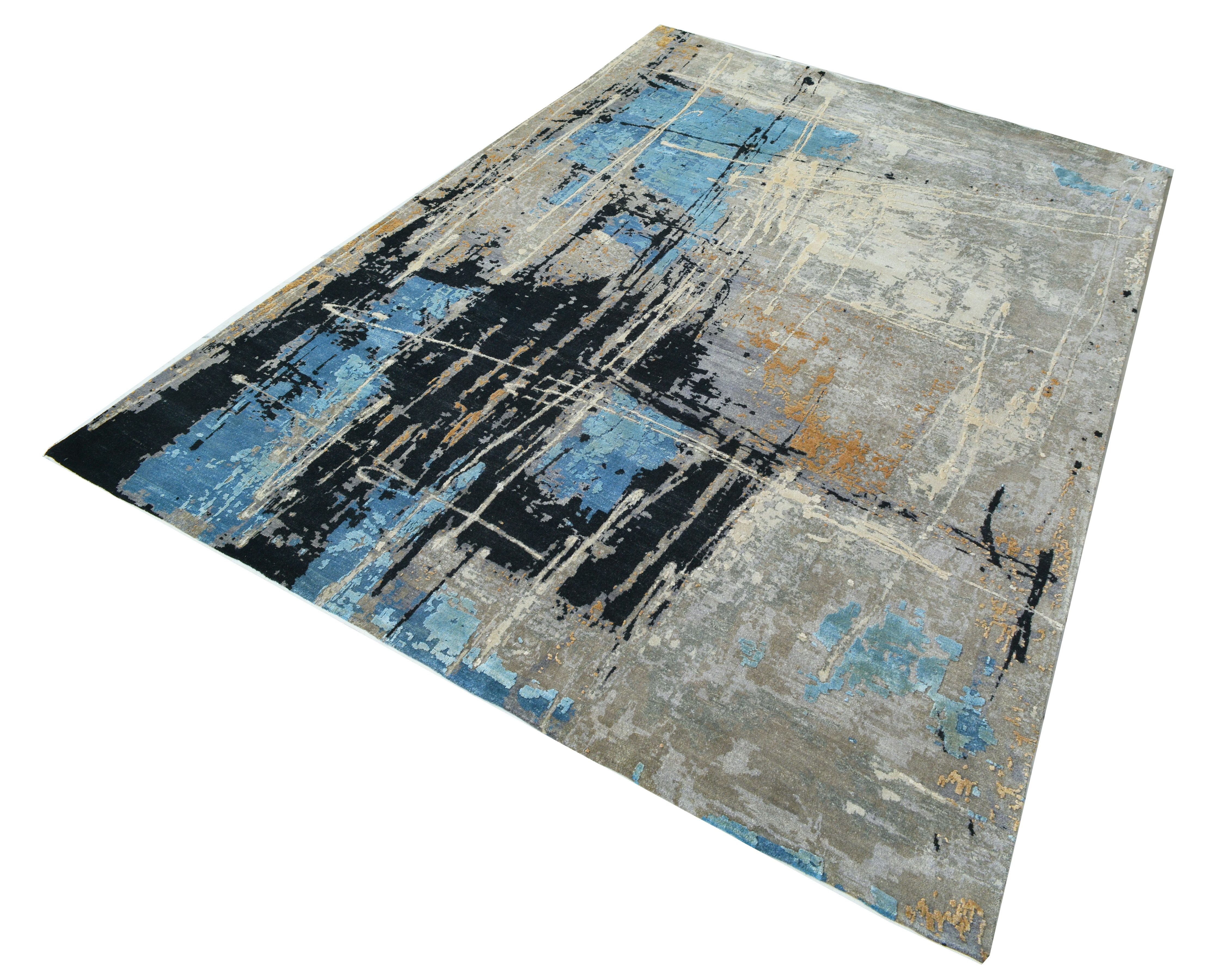 blue abstract rug-1