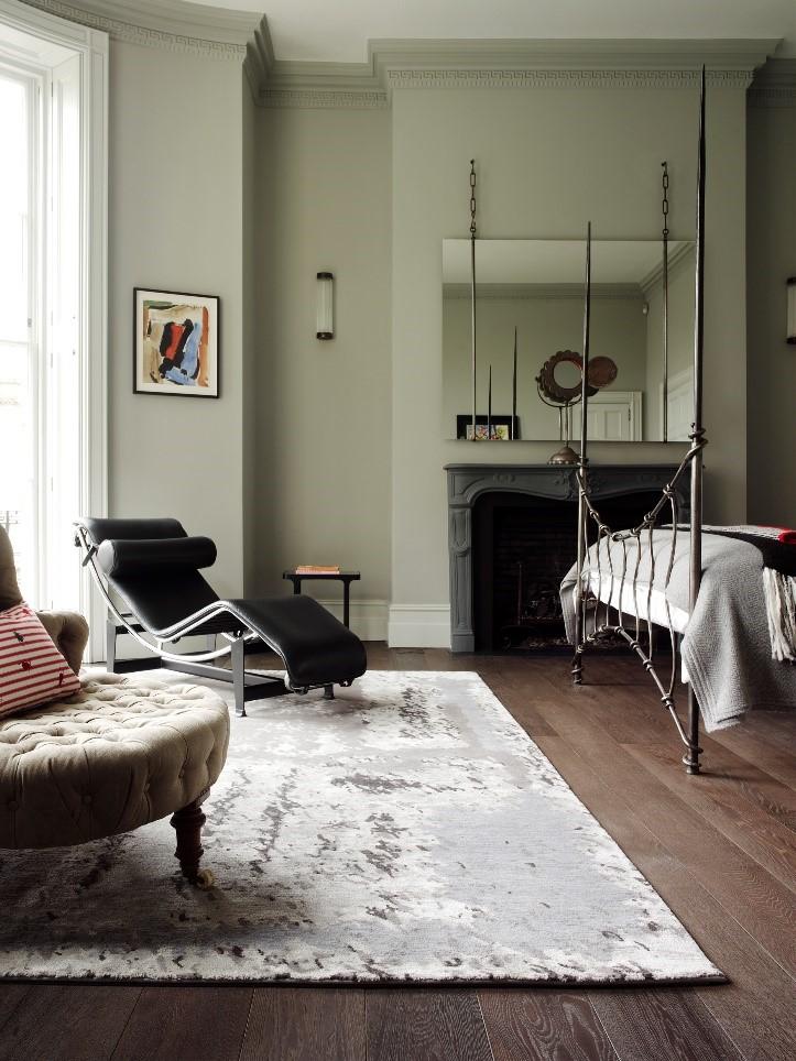 grey abstract rug