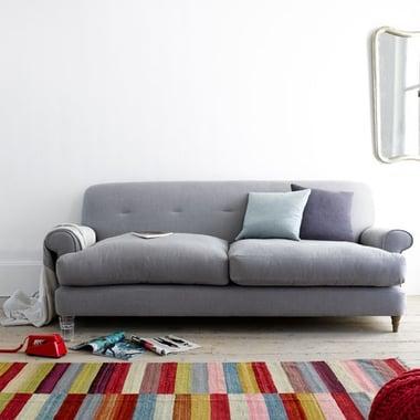 multi coloured striped rug